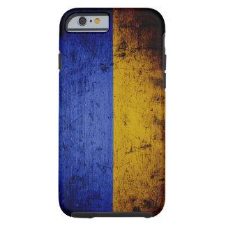 Schwarze Schmutz-Ukraine-Flagge Tough iPhone 6 Hülle