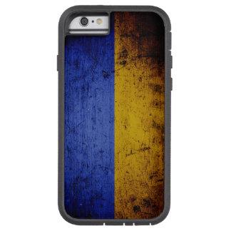 Schwarze Schmutz-Ukraine-Flagge Tough Xtreme iPhone 6 Hülle
