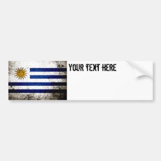 Schwarze Schmutz-Uruguay-Flagge Autoaufkleber