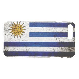 Schwarze Schmutz-Uruguay-Flagge iPhone 8 Plus/7 Plus Hülle