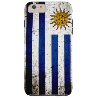 Schwarze Schmutz-Uruguay-Flagge Tough iPhone 6 Plus Hülle