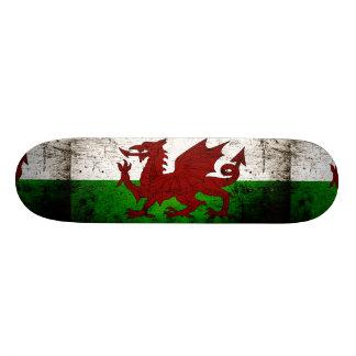 Schwarze Schmutz-Wales-Flagge Personalisierte Skateboards