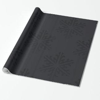 Schwarze Schneeflocke-schickes modisches Geschenkpapier