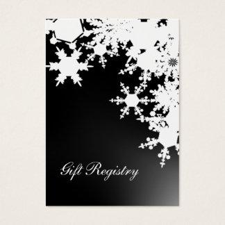 schwarze Schneeflocken Geschenkladen Karten