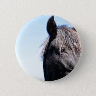 Schwarze Schönheit Runder Button 5,1 Cm