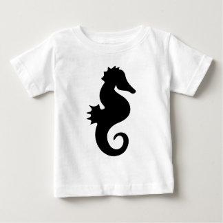 Schwarze Seepferd-Silhouette Baby T-shirt