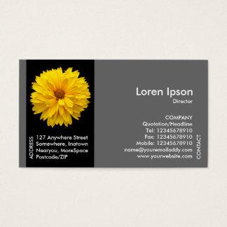 Schwarze Seitenband-Blume - gelbe Chrysantheme Visitenkarte