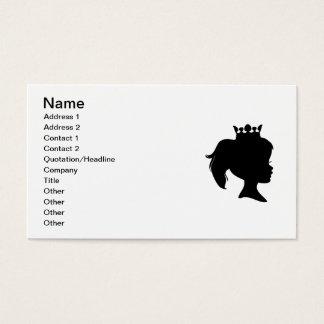Schwarze Silhouette-Prinzessin T-shirts und Visitenkarte
