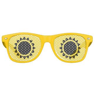 Schwarze Sonnenblume-erwachsene Retro Partybrille