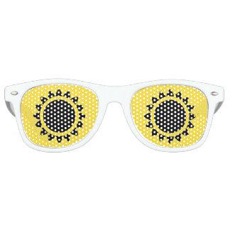 Schwarze Sonnenblume-erwachsene Retro Sonnenbrille