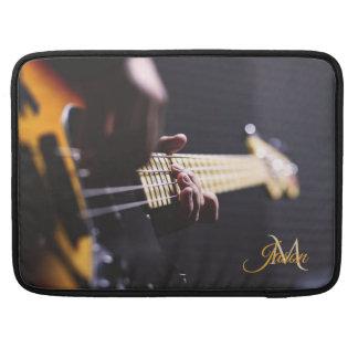 Schwarze Sonnendurchbruch-Bass-Gitarre Macbook MacBook Pro Sleeve