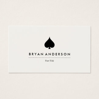 Schwarze Spaten-Symbol-Visitenkarte Visitenkarte