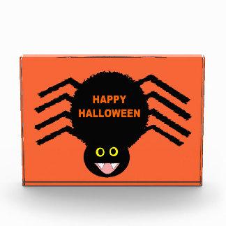 Schwarze Spinnen-AcrylFoto-Block Halloweens Acryl Auszeichnung
