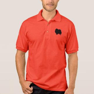 Schwarze Spitz-Silhouette Polo Shirt