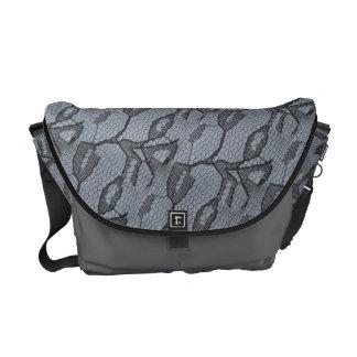 Schwarze Spitze-Blick-Bote-Tasche Kurier Tasche