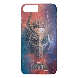 Schwarze Stammes- Maske des Panther-  bedeckte iPhone 8 Plus/7 Plus Hülle