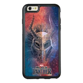 Schwarze Stammes- Maske des Panther-| bedeckte OtterBox iPhone 6/6s Plus Hülle
