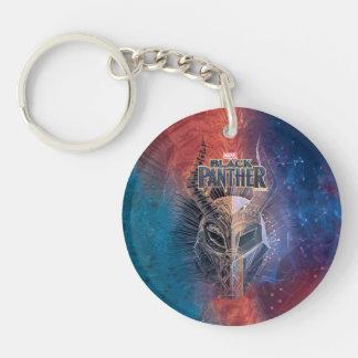 Schwarze Stammes- Maske des Panther-| bedeckte Schlüsselanhänger