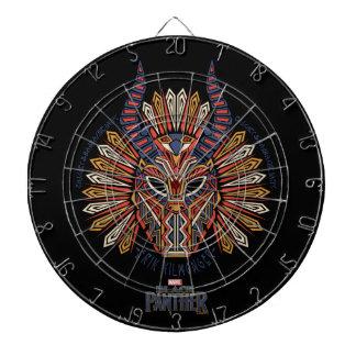 Schwarze Stammes- Masken-Ikone des Panther-| Erik Dartscheibe