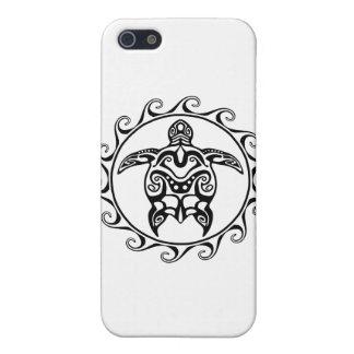 Schwarze Stammes- Schildkröte Etui Fürs iPhone 5