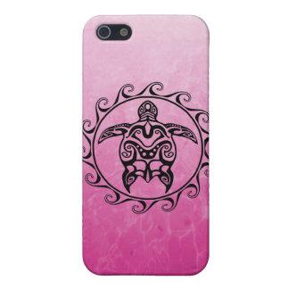 Schwarze Stammes- Schildkröte iPhone 5 Etui