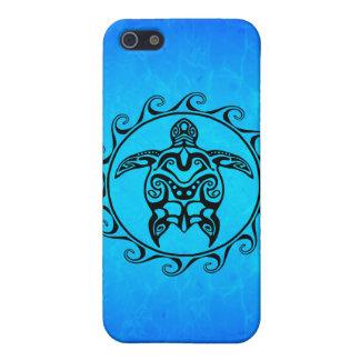 Schwarze Stammes- Schildkröte iPhone 5 Hülle