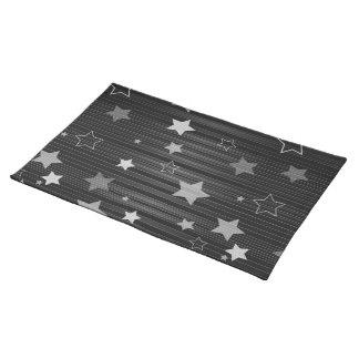 Schwarze Sternchen-Vereinbarung Stofftischset