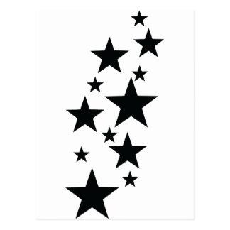 schwarze Sternregenikone Postkarte