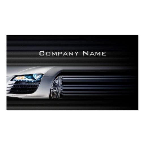 Schwarze stilvolle AutomobilVisitenkarte