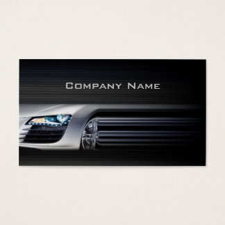 Schwarze stilvolle AutomobilVisitenkarte Visitenkarten