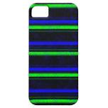Schwarze Streifen des blauen Grüns iPhone 5 Etuis