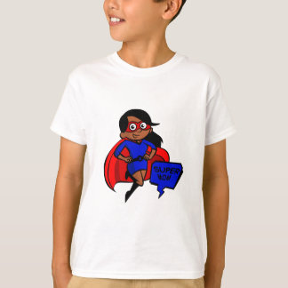 schwarze Supermamma T-Shirt