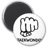 schwarze Taekwondo-Ikone Runder Magnet 5,1 Cm
