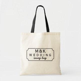 Schwarze Tafel-gerahmte Hochzeits-Gastswag-Tasche Tragetasche