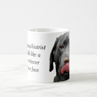 Schwarze Tasse der Labrador-Retrieverschale | für