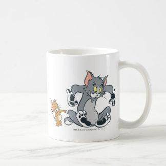 Schwarze Tatzen-Katze Toms und Jerry Teetasse