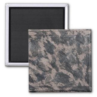 Schwarze Tinte auf Brown-Hintergrund Quadratischer Magnet