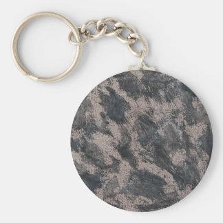 Schwarze Tinte auf Brown-Hintergrund Schlüsselanhänger