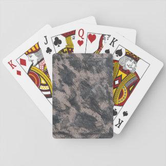 Schwarze Tinte auf Brown-Hintergrund Spielkarten