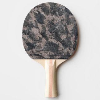 Schwarze Tinte auf Brown-Hintergrund Tischtennis Schläger