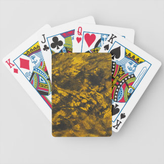 Schwarze Tinte auf gelbem Hintergrund Bicycle Spielkarten