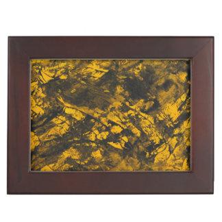 Schwarze Tinte auf gelbem Hintergrund Erinnerungsdose
