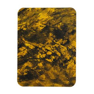 Schwarze Tinte auf gelbem Hintergrund Magnet