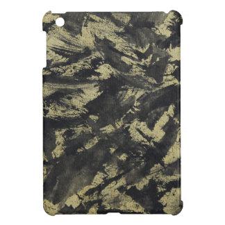 Schwarze Tinte auf Goldhintergrund iPad Mini Hülle