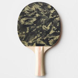 Schwarze Tinte auf Goldhintergrund Tischtennis Schläger