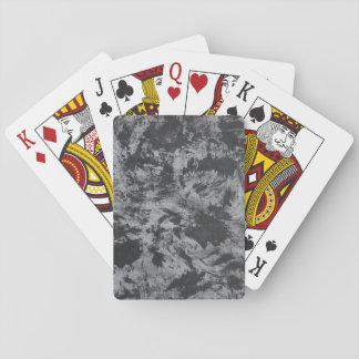 Schwarze Tinte auf grauem Hintergrund Spielkarten