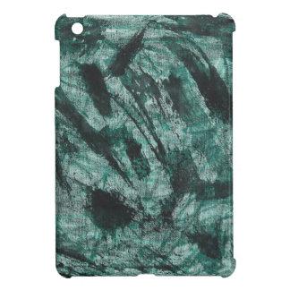 Schwarze Tinte auf grüner Markierung iPad Mini Hülle