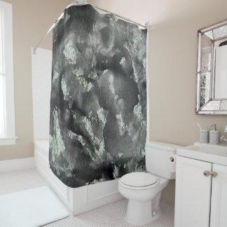 Schwarze Tinte auf grüner waschbarer Markierung Duschvorhang