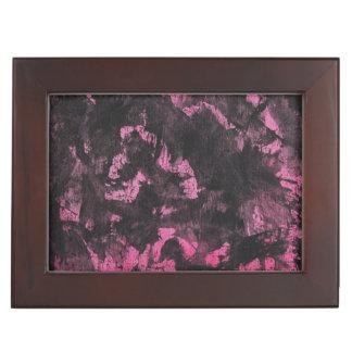 Schwarze Tinte auf rosa Hintergrund Erinnerungsdose