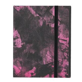 Schwarze Tinte auf rosa Hintergrund iPad Schutzhülle